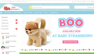 Baby Strawberry website sample
