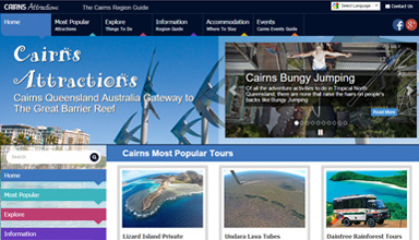Cairns Attractions website sample