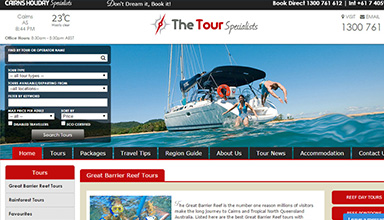 The Tour Specialists website sample